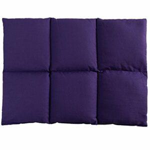 Coussin aux grains de blé 40×30 – Coussin chauffant pour le dos – Bouillotte sèche – Compresse chaude ou froide (6 compartiments; Design: violet)