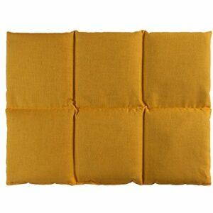 Coussin aux grains d´épeautre biologique 40×30 – Coussin chauffant pour le dos – Bouillotte sèche – Compresse chaude ou froide (6 compartiments; Design: mangue)