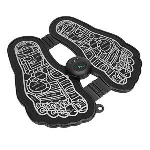 Coussin de massage des pieds, machine de massage des pieds pour coussin de jambe EMS Technologie à micro-courant Conception pliable pour soulager la douleur au pied