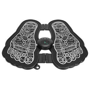 Coussin de massage des pieds, technologie de micro-courant EMS 6 modes réglables Coussin de stimulation électrique des pieds Coussin de modelage des jambes Conception de panneau simple pour