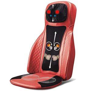 Coussin de siège de massage de la chaleur du masseur de back Massager pour la voiture, la maison ou la chaise de bureau, le masseur de corps électrique aide à soulager le stress et la fatigue