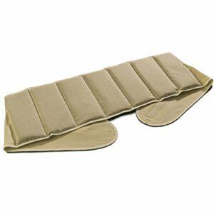 Coussin-ceinture aux graines de lin à sept compartiments avec fermeture à bande auto-agrippante – longueur environ 135cm – Coussin thermique XXL – Ceinture-bouillotte, ecru