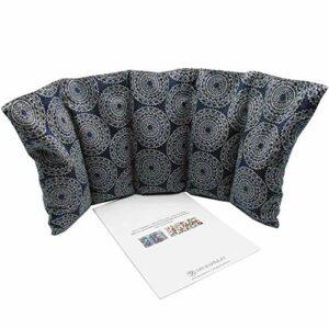 Coussins thermiques chaud et froid «MANDALAS – BLUE» – rempli de noyaux de cerise – coussin thérapeutique – 50x20cm – 800gr