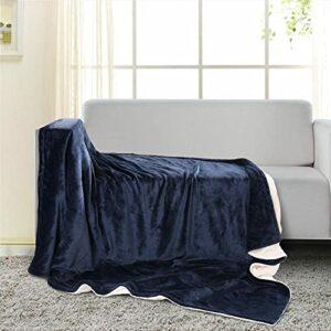 Couverture chauffante 130 * 180cm avec 6 Niveaux de chauffage, Chauffage Rapide et Protection Contre la Surchauffe, Contrôle du Temps & Interrupteur Amovible, Lavable