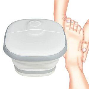 CXZDP Baignoire de Massage pour Les Pieds Pliant, Favoriser la Circulation Sanguine Baignoire Portable Masseur pour Les Pieds avec Rouleaux de Massage Baril De Pédicure A,40 * 38 * 12cm