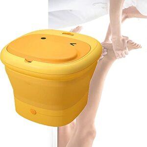 CXZDP Pliant Masseur pour Les Pieds Noyaux de Massage Relaxant Baignoire Portable Température réglable Baignoire de Massage- pour Les Pieds pour PéDicure Relaxation DéTox A,38 * 35 * 14CM