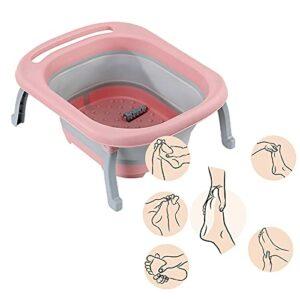 CXZDP Portable Masseurs pour Les Pieds Pliant Baignoire De Massage pour Les Pieds avec Rouleaux De Massage Bassin de Bain de Pieds pour Enlever Les Callosités B,48 * 40 * 7CM
