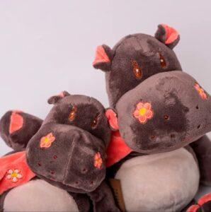 Decolores | Peluches thermiques | Peluche Hippopotamus | Sensation de chaleur et de fraîcheur | Poupées animales | Micro-ondable | Petite taille | Cadeaux originaux | Cadeaux originaux