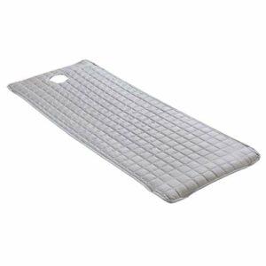 F Fityle Feuille de Couverture de Lit de Table de Massage Antidérapante – Motif de Grille Confortable – avec Trou de Respiration et Conception – Gris