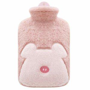 Flush Bouillotte portable avec housse pour câlins, canapé, lit, thérapie par la chaleur, cadeau idéal (couleur : rose, taille : B)