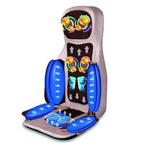 Fly YUTING Coussin de Massage électrique, Chaise de Massage du Masseur de Shiatsu avec Chaleur, Rouleaux de pétrissage des Tissus Profonds, Coussin de siège de Vibration