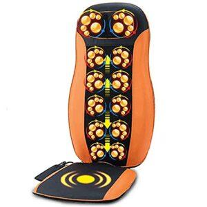 Fly YUTING Tapis de Massage de Corps Complet -ShiatSu Col de Dos Masseur avec Chaleur et air comprimé, pétrir,Orange