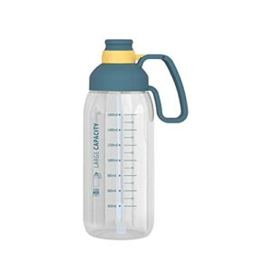 FPEH Coupe d'eau avec des pailles Sports spatiaux et Fitness Super Grande capacité Portable en Plastique Portable de la gobelet en Plastique d'eau en Plastique à la preuv Dark Blue
