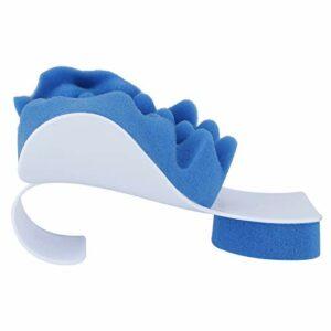 Gaeirt Oreiller de Soutien de la Nuque, Oreiller de Massage réglable en éponge Bleue inodore pour Le Sommeil des douleurs au Cou