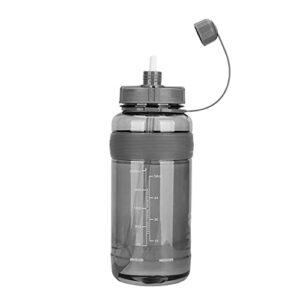 Gobelet Spatial Tasse d'eau de Grande capacité Tasse d'eau en Plastique Enfants Fitness Sports Fuite en Plein air Bouteille d'eau de Paille Black