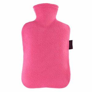 Grande bouillotte à injection d'eau chaude de 2 litres avec housse en polaire – Cadeau idéal pour les filles