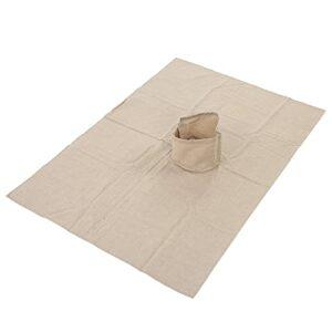 Housse de table de massage avec trou, en coton Housse de lit de massage avec trou Housse de table de massage douce et lisse pour fauteuils de massage pour salon de beauté(Kaki)