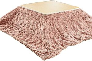 JINCAN Table basse Tatami Tatami de chauffage Kotatsu, cuisinière japonaise, table de rangement pliante Table de chauffage tatami, ensemble de 4 pièces comprenant une table futon, une couverture chaud