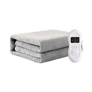 joyvio Couverture chauffante Confortable, Extra Douce, Deux Zones de température séparées, système de sécurité, 8 Niveaux de Puissance, Fonction minuterie (Size : 200 * 180cm)