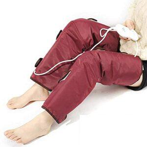 JuZi Store Masseur de Jambe à Chaleur Infrarouge pour Le Massage de la Circulation des Cuisses avec contrôleur portatif 3 intensités de Chaleur 3 Modes, Masseur de Pétrissage à Pression Rechargeable