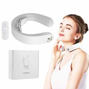 Massageurs de cou enfoux, massage de dos de tissu de Shiatsu avec chaleur, masseur 3D portable sans fil, relief de la douleur au cou et à l'épaule, contrôle sans fil portable pour le bureau de la voit
