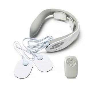 Masseur à col électrique, masseur de col utérin multifonction avec chaleur, soulagement des douleurs à l'épaule de cou, design portable pour la maison, la voiture, le bureau et les voyages masseur de