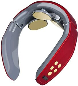 Masseur à cou intellistique, masseur à col pouls magnétique électrique, masseur de cou portatif avec fonction de chauffage, technologie de raccord 3D, soulagement de la douleur au cou, pour la voiture