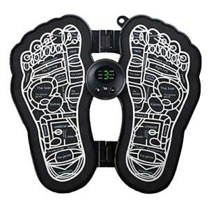 Masseur de pied pliable électrique, Massage des pieds pour la circulation Boost Muscle Soulagement de la douleur musculaire, pliage de pied de massage portable USB Rechargeable masseur de nuque sans f