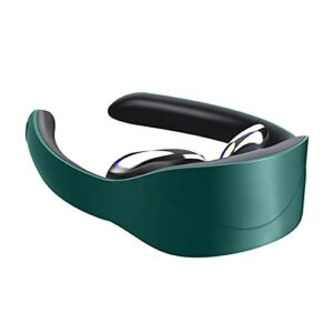 NC 1pc Portable Neck Massager 5 Modes 15 Levels Muscle Relax Pain Relief Car Use green