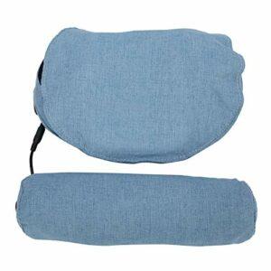 Oreiller de massage du cou, oreiller de massage masseur de cou incurvé à 45 ° pour le ventre pour les jambes(bleu, Traduire)