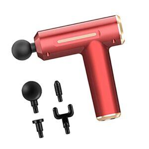oshhni Pistolet de massage électrique Masseur de tissus profonds silencieux Masseur portable 1800mAh Appareil de massage à percussion pour les athlètes du – rouge