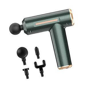 oshhni Pistolet de massage électrique Masseur de tissus profonds silencieux Masseur portable 1800mAh Appareil de massage à percussion pour les athlètes du – Vert
