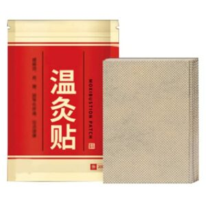 Patch de moxibustion, Patch Pad Wormwood Patch Autocollants de moxibustion pour la taille, le dos, les poignets, les genoux et les pieds pour les épaules, les articulations du cou, l'abdomen