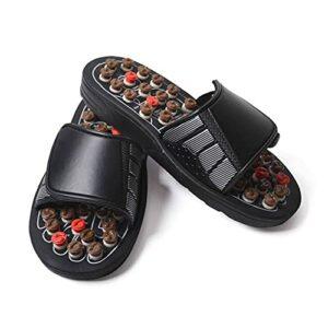 Pieds Massage Pantoufles Foot Réflexologie Acupuncture Therapy Therapy Massager Chaussures de Pierre Acupuncture Cobblestone MassageAdor Sandal Activer la Circulation Soulager la Fatigue