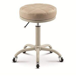 QLIGAH Tabouret rotatif réglable avec siège rond pour salon, massage, usine
