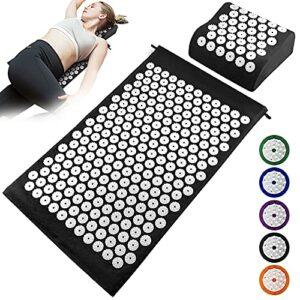skrskr Acupuncture Mat Oreiller Set Acupressure Mat Cushion Massage Pillow Pad for Full Body Massage Cushion