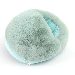 skrskr Ports USB lavables détachables Imitation Cheveux de Lapin Pantoufles chauffantes Chauffe-Pieds pour Adultes Hommes et Femmes