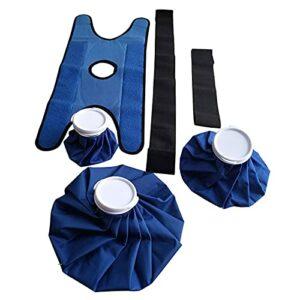 SM SunniMix Taille et Bas du Dos 3 Sacs de Glace avec Support Enveloppe Flexible et Ajustable Chaude et Froide pour Le Genou Jambe Entorse Épaule