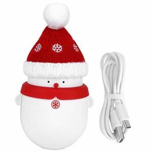 Socobeta Chauffe-mains rechargeable portable chauffage rapide pour l'hiver (rouge, type tour de penche)