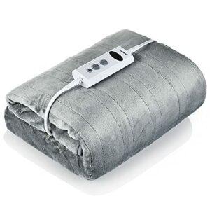 TTSEFW Flanelle Couvertures Chauffantes Warm Electric Blanket Shawl Couverture De Climatisation Lavable Confortable Alimentée par USB pour La Maison De Bureau 50 × 60 Pouces(Gris)