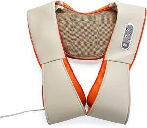 XWZ Masseur de Cou, Masseur de Dos Shiatsu avec Chaleur, Masseur de Dos électrique, Massage de pétrissage des Tissus Profonds pour soulager Les douleurs Musculaires