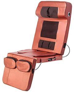 YNB Tapis De Massage Complet Pliable Portable avec Chaleur, Matelas De Massage Musical Bluetooth sans Fil, Pétrissage des Tissus Profonds, Coussin De Chaise De Massage À Domicile