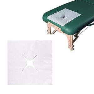 ZFAZF 200pcs / Sac Non-tissé à Usage Unique Visage Pad Nappe Massage Spa Taie d'oreiller Salon de Massage lit Table Visage Trou Couverture 2 Tailles