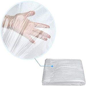 ZFAZF 90/180 pcs Draps Jetables, Tables Massage Couvrir Les Draps en Plastique Drapé Draps Table Feuille, Housse Canapé pour Massage Tables Lit, Transparent, Grande Taille