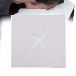 ZFAZF Draps de Lit Jetables Nappe Massage Absorbe la Sueur, Respirant, pour la Table de Massage ou Le lit Facial, Le lit d'épilation, Les spas 200pcs(Trou croisé, 3 Tailles)