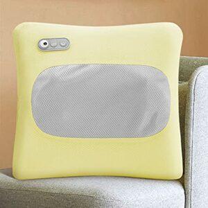 ZHYYYDS Masseur De Dos Masseur De Dos Et De Cou Chauffant Shiatsu Coussin De Massage à Pétrissage des Tissus Profonds,Yellow