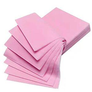ALUNVA Feuille Plate 10pcs 80 * 170cm Lit jetable à la Drap de beauté Salon de beauté Spa Massage Table fiche de Hôtel Couverture de lit Non tissé FQYXLX (Color : Pink)