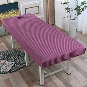 ALUNVA Feuille Plate Massage Tôle d'une Feuille d'enveloppe allouée for Salon de beauté Spa Couverture de lit avec Trou de Visage 4 Tailles FQYXLX (Color : Dousha, Size : 190×70)