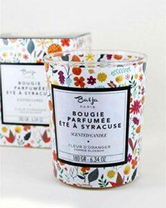 Baija Bougie Parfumée été à Syracuse – Fleur d'oranger 280 GR Candle