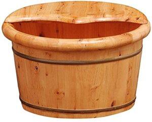 Bain De Pied Massage Pieds Baignoire à pied domestique, piéton, baignoire à pied en bois, canot de lavage à pied de 21 cm, seau de massage pied, pied de détente, soulagement de la fatigue de la douleu